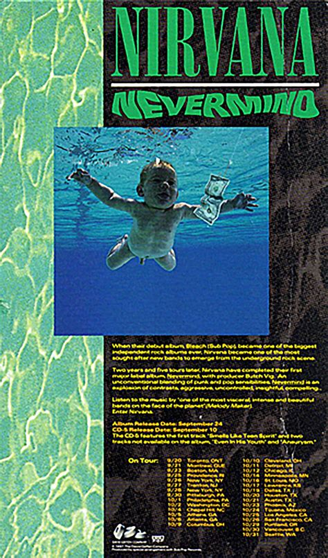 Nirvana holds Nevermind album-release party at artsy