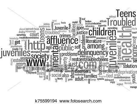 Juvenile Offenders and Troubled Teens text background