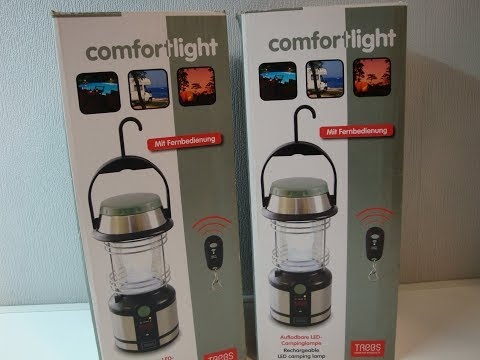 ThorFire Campinglampe LED Laterne Dynamo Taschenlampe 2 in