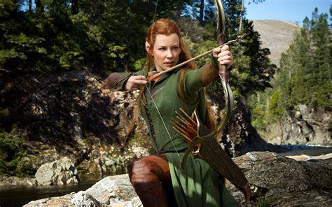 Evangeline Lilly as Tauriel in Hobbit Wallpapers | HD