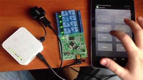 Android Relay Board on TP-link TL-MR3220 v2 OpenWRT - YouTube