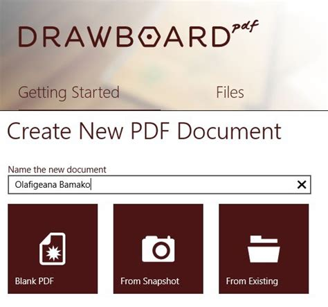 Windows 8, 10 App Drawboard PDF: Create, Annotate and