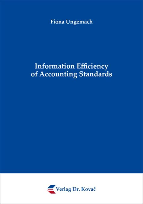 Information Efficiency of Accounting Standards