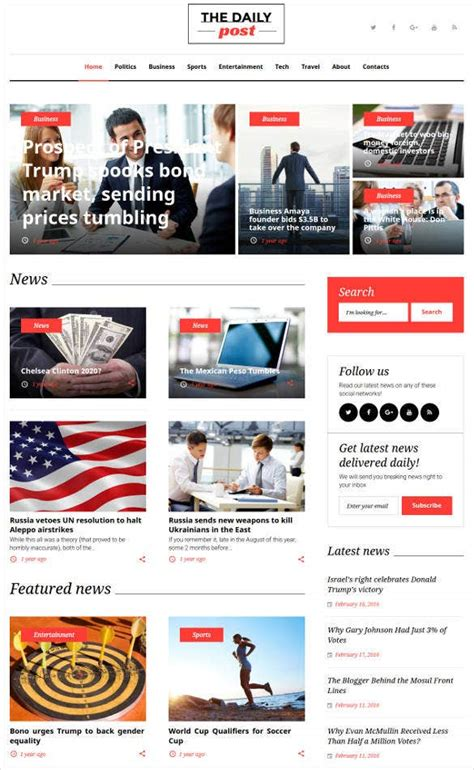 30+ News Blog Themes & Templates | Free & Premium Templates