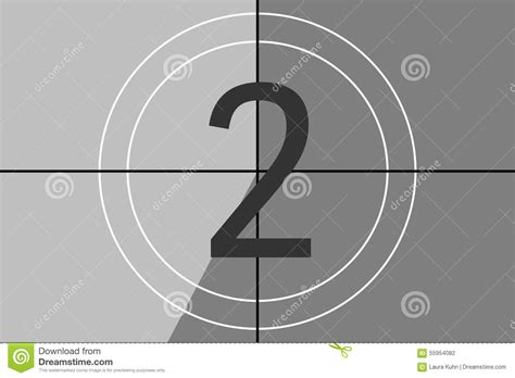 Old Fashioned Movie Countdown Stock Illustration