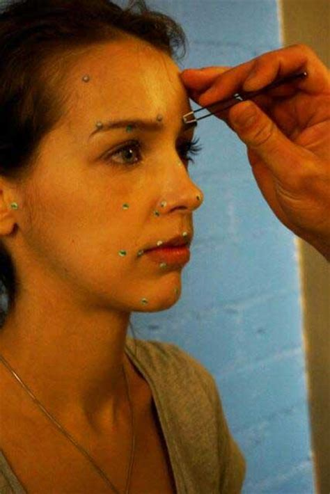 Photos of facial capture session for Quiet – Metal Gear