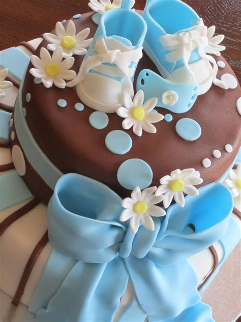 Boy Baby Shower Cake And Cupcakes - CakeCentral