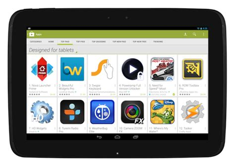 Google modifies Play store to help tablet users find