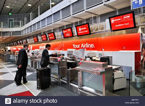 Check-in counter, Airberlin, departure hall, Terminal 1