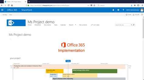 Connect Microsoft Project plan to SharePoint Online