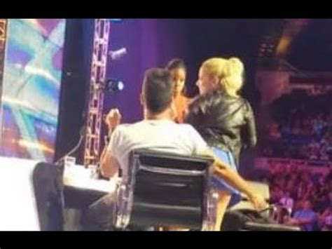 DEMI LOVATO TWERKS ON SIMON COWELL AT 'X FACTOR' AUDITIONS