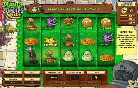 Plants vs Zombies Slot Machine Online Play FREE Plants vs