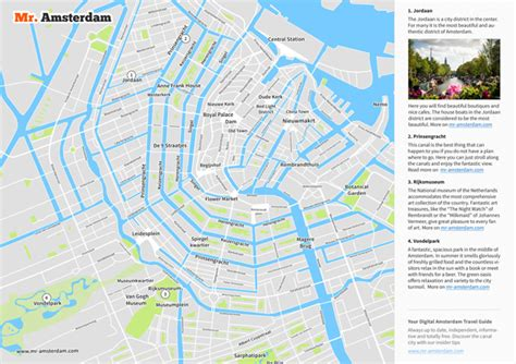 Amsterdam Tourist Map - Sights & Streets at a Glance