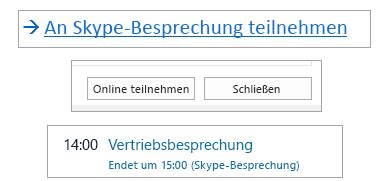 Besprechungen mit Skype for Business - Skype for Business