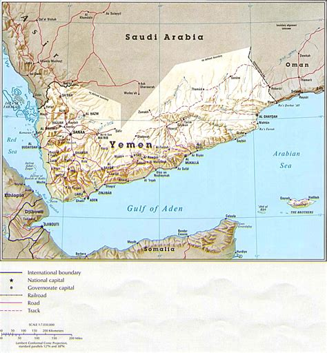 Maps of Yemen | Map Library | Maps of the World