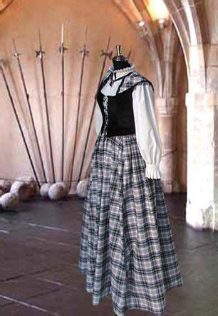 Traditionelle schottische Tartan Kleid Nr