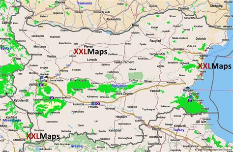 Tourist map of Bulgaria - free download for smartphones