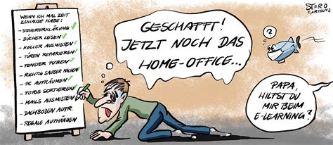 Homeoffice Covid19 - Cartoons, Comic, Karikaturen