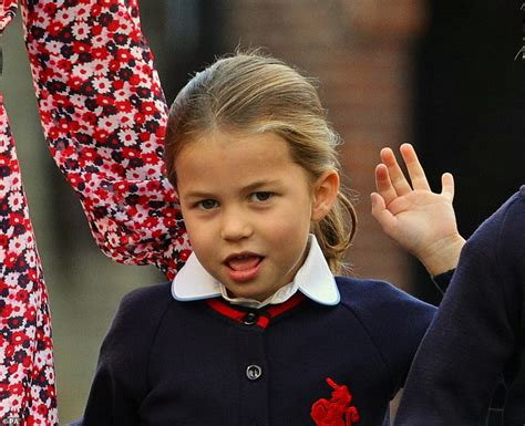 Princess Charlotte arrives for her first day of school at