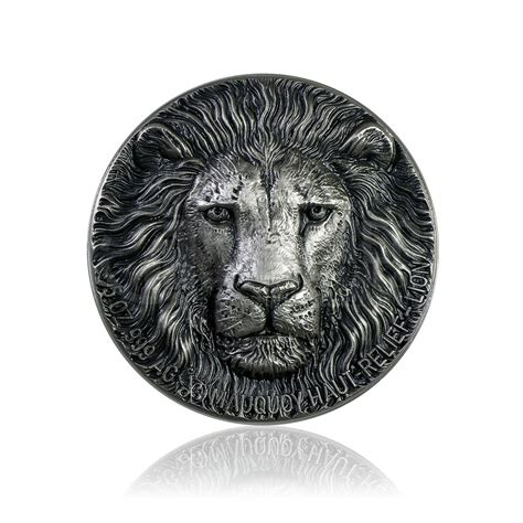 5 Unze Silber Big Five Mauquoy Löwe 2016 High Relief