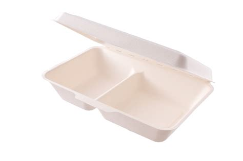 » 2 Compartment Bagasse Box