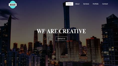 How to Create a Website using HTML and CSS | Homepage
