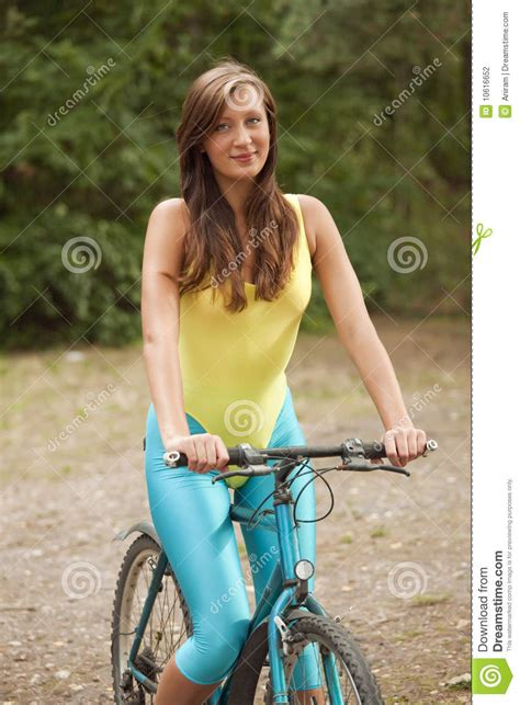 Active Woman On Bicycle Stock Photography - Image: 10616652